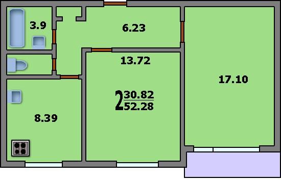 Площадь балкона в доме серии ii 29..
